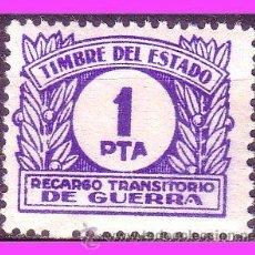 Sellos: FISCALES 1937 RECARGO TRANSITORIO DE GUERRA, ALEMANY Nº 6 * *. Lote 37178327