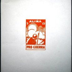 Sellos: ALIÑA HOJITA VIÑETA PRO GUERRA 5 CTS . Lote 37165862