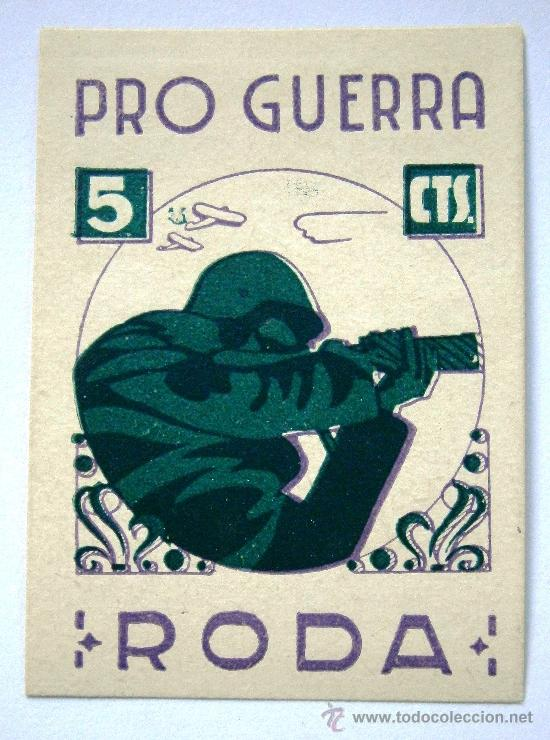 RODA PRO GUERRA 5 CTS (Sellos - España - Guerra Civil - Viñetas - Nuevos)