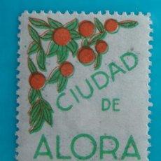 Sellos: SELLO VIÑETA CIUDAD DE ALORA MALAGA 5 CENTS, CIRCULADO. Lote 37207355