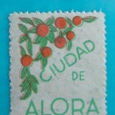 Sellos: SELLO VIÑETA CIUDAD DE ALORA MALAGA, 5 CENTS, CIRCULADO. Lote 37207370