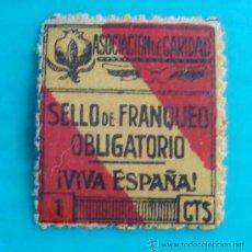 Sellos: SELLO DE FRANQUEO OBLIGATORIO GRANADA, ASOCIACION DE CARIDAD, VIVA ESPAÑA, 1 CTS, NUEVO CON GOMA. Lote 37207501