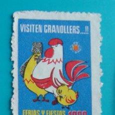 Sellos: VIÑETA SELLO VISITEN GRANOLLERS FERIAS Y FIESTAS DE LA ASCENSION 1960 - NUEVO SIN GOMA. Lote 37221088