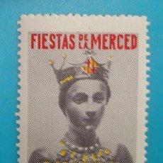 Sellos: VIÑETA SELLO FIESTAS DE LA MERCED BARCELONA 1956 - NUEVO CON GOMA. Lote 37221888