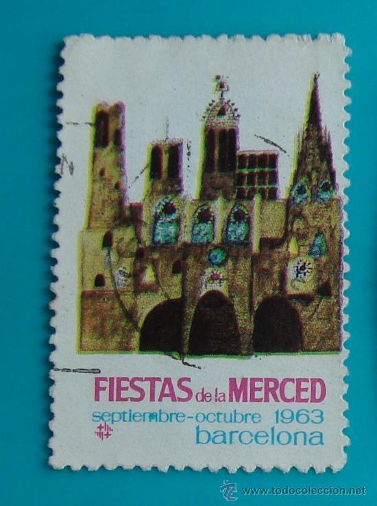 VIÑETA SELLO FIESTAS DE LA MERCED BARCELONA 1963 - CIRCULADO (Sellos - España - Guerra Civil - De 1.936 a 1.939 - Nuevos)