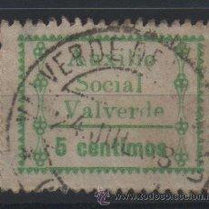 Sellos: VALVERDE, HUELVA, AUXILIO SOCIAL, 5 CTS.VERDE. Lote 37236864