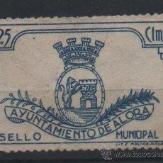 Sellos: ALORA , MALAGA, SELLO MUNICIPAL, 25 CTMS., MUY RARO. Lote 37238151