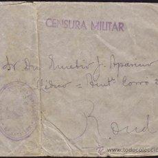Sellos: ESPAÑA. 1937. SOBRE CON MARCA FRANQUICIA MILITAR * REGIMIENTO INFANTERIA PAVIA Nº 7/5º BATALLON *. Lote 37477706