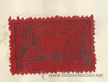 COLECCION DE 125 VIÑETAS CATALANISTAS - VER FOTOS - (V-177) (Sellos - España - Guerra Civil - Viñetas - Usados)