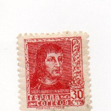 Sellos: RR-ESPAÑA - 1938 - FERNANDO EL CATOLICO - EDIFIL 844 - 30C, ROJO. Lote 37717806
