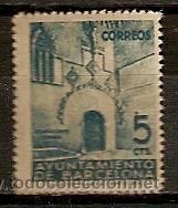 SELLO ESPAÑA EMISON LOCAL BARCELONA EDIFIL 19 AÑO 1938 PUERTA GOTICA DEL AYUNTAMIENTO NUEVO (Sellos - España - Guerra Civil - Locales - Nuevos)