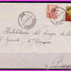 Sellos: CARTA GRANADA A BURGOS, EDIFIL Nº 823 Y FESOFI Nº 36, 26 JUNIO 1937. Lote 37775142