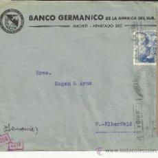 Sellos: MADRID CC ALEMANIA SELLOS FRANCO PERFIL 70 CTS MARCAS DE CESNURA ESPAÑOLAS Y ALEMANAS. Lote 37768644