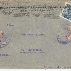 Sellos: MADRID CC ALEMANIA SELLOS FRANCO PERFIL 70 CTS SANCHEZ TODA MARCAS DE CENSURA. Lote 37768741