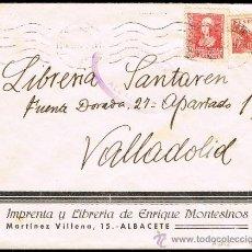 Sellos: ALBACETE - EDI O 857 + 818 - CENSURA HELLER: SIMILAR 17.20.2 - CARTA CIRC.. Lote 38366701