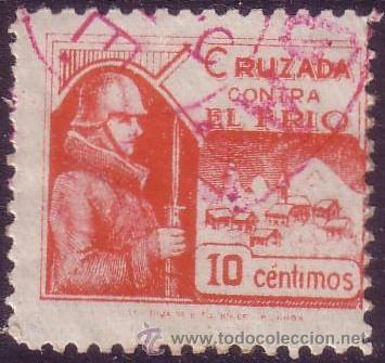 ESPAÑA. CRUZADA CONTRA EL FRÍO. (CAT. 4). 10 CTS. MUY BONITO. (Sellos - España - Guerra Civil - Beneficencia)