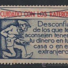 Sellos: RARA VIÑETA, CUIDADO CON LOS RATEROS.. Lote 38175730