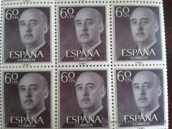 6 SELLOS FRANCISCO FRANCO NUEVOS (Sellos - España - Guerra Civil - De 1.936 a 1.939 - Nuevos)