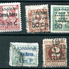 Sellos: 5 SELLOS DIFERENTES DE CANARIAS. 1 NUEVO CON FIJASELLOS Y 4 USADOS.. Lote 38397652