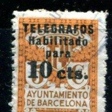 Briefmarken - Edifil 4 de telégrafos de Barcelona. Matasellado - 38449060
