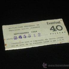 Sellos: MUTUALIDAD NACIONAL DE PREVISION SOCIAL AGRARIA, EVENTUAL.. Lote 38460117