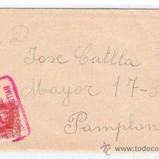 Sellos: CIRCULADA Y ESCRITA 1938 DE SAN SEBASTIAN A PAMPLONA CENSURA MILITAR DE SAN SEBASTIAN. Lote 38526516