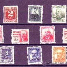 Sellos: ESPAÑA 731 / 740 - CIFRAS Y PERSONAJES 1936. NUEVA SIN FIJASELLOS. CAT. 30€.. Lote 38697166