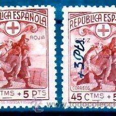 Francobolli: ESPAÑA 767 / 768 - CRUZ ROJA TERRESTRE Y AÉREA 1938. NUEVA SIN FIJASELLOS. CAT.21,20€.. Lote 49318242