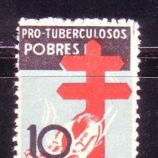 Sellos: ESPAÑA 0840 PRO TUBERCULOSOS 1937. NUEVA CAT.32,00.-. Lote 38697217