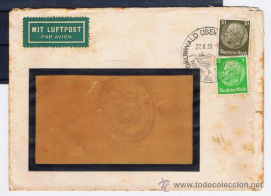 CIRCULADO 1939 DE GRABLACK A BARCELONA CON CENSURA MILITAR (Sellos - España - Guerra Civil - De 1.936 a 1.939 - Cartas)