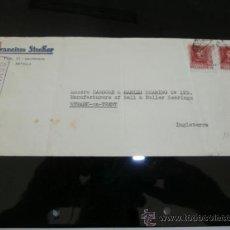 Sellos: CIRCULADO 1937 DE SEVILLA A NEWARK ON TRENT CON CENSURA MILITAR . Lote 39014103