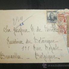 Sellos: CIRCULADO 1938 DE SALLENT A BRUXELLES BELGICA CON CENSURA REPUBLICANA . Lote 39015144