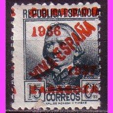 Sellos: GUERRA CIVIL, ZARAGOZA, SELLO REPUBLICANO HABILITADO, EDIFIL Nº 32 * *. Lote 39111392
