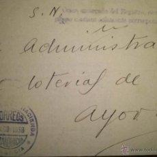 Sellos: RARISIMA FRANQUICIA DE LA DELEGACION DE HACIENDA DE VALENCIA A AYORA 1938 GUERRA CIVIL. Lote 39333771
