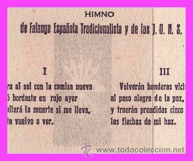Sellos: Tarjeta de José Antonio Primo de Ribera, FALANGE, HIMNO, variedad - Foto 2 - 39357956