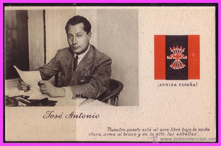 Sellos: Tarjeta de José Antonio Primo de Ribera, FALANGE, HIMNO, variedad - Foto 3 - 39357956