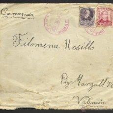 Sellos: GUERRA CIVIL - 1937 DELANTE CARTA -CORREO DE CAMPAÑA - ESTAFETA 14. Lote 39407344