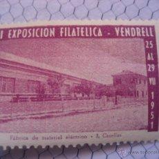 Sellos: VENDRELL. TARRAGONA. II EXPOSICION FILATELICA. 1951. Lote 39492542