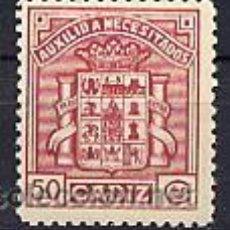 Sellos: ESPAÑA GUERRA CIVIL. SELLO LOCAL DE CÁDIZ, ALLEPUZ Nº 137. Lote 52608226