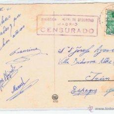 Sellos: CIRCULADO 1941 CHAMBERY SUIZA A IRUN CON CENSURA DIRECCION GENERAL DE SEGURIDAD DE MADRID . Lote 39583887