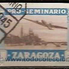 Sellos: VIÑETA 1 PTA PRO SEMINARIO DE ZARAGOZA USADO. Lote 39630143