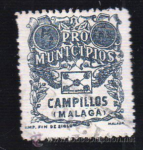 VIÑETA. GUERRA CIVIL ESPAÑA. PRO MUNICIPIOS. CAMPILLOS, MALAGA. CHARNELA (Sellos - España - Guerra Civil - Viñetas - Nuevos)