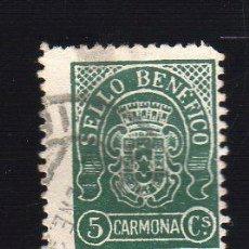 Sellos: VIÑETA. GUERRA CIVIL ESPAÑA. SELLO BENEFICO. CARMONA, SEVILLA. CHARNELA . Lote 39696387