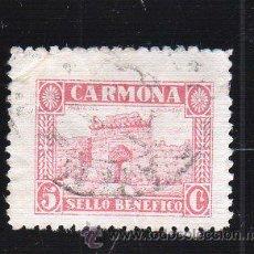 Sellos: VIÑETA. GUERRA CIVIL ESPAÑA. SELLO BENEFICO. CARMONA, SEVILLA. CHARNELA . Lote 39696880