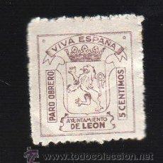 Sellos: VIÑETA. GUERRA CIVIL ESPAÑA. PARO OBRERO. LEON. CHARNELA . Lote 39697613