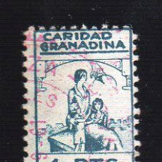 Sellos: VIÑETA. GUERRA CIVIL ESPAÑA. CARIDAD GRANADINA. GRANADA. CHARNELA . Lote 39699002