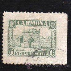 Sellos: VIÑETA. GUERRA CIVIL ESPAÑA. SELLO BENEFICO. CARMONA, SEVILLA. CHARNELA . Lote 39699214