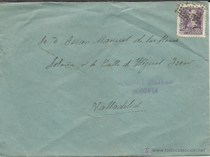 CENSURA MILITAR DE SEGOVIA NOVIEMBRE DE 1938 (Sellos - España - Guerra Civil - De 1.936 a 1.939 - Cartas)