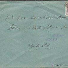 Sellos: CENSURA MILITAR DE SEGOVIA NOVIEMBRE DE 1938. Lote 39757788