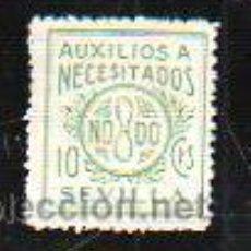 Sellos: VIÑETA. GUERRA CIVIL ESPAÑA. AUXILIO A NECESITADOS. NODO, SEVILLA. CHARNELA. Lote 39911292